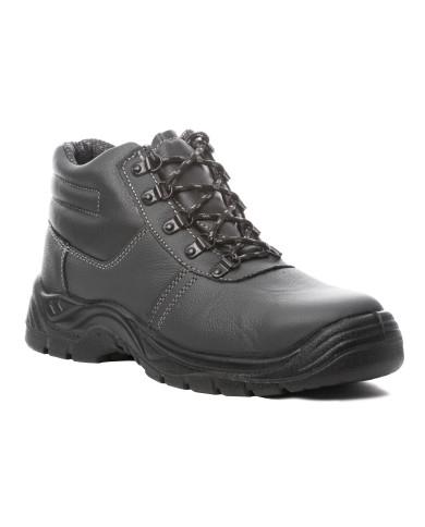 Chaussures de sécurité Agate Haute S3 cuir fleur vachette noir