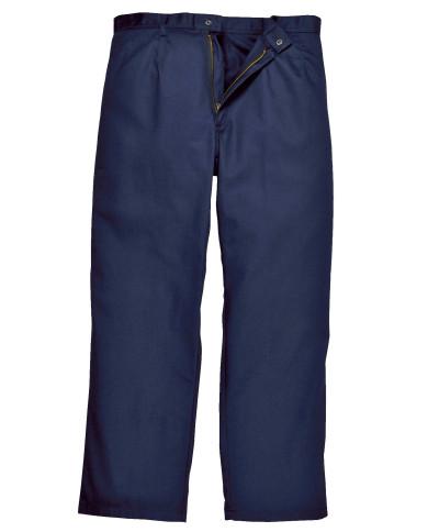 Pantalon Bizweld, 100% coton, résistant à la flamme, marine 330g/m²